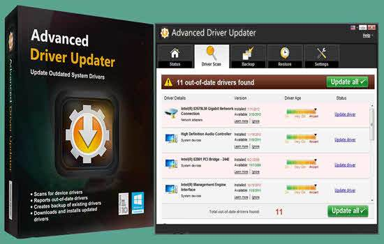 Advanced Driver Updater 2020  Key + File With Crack Download