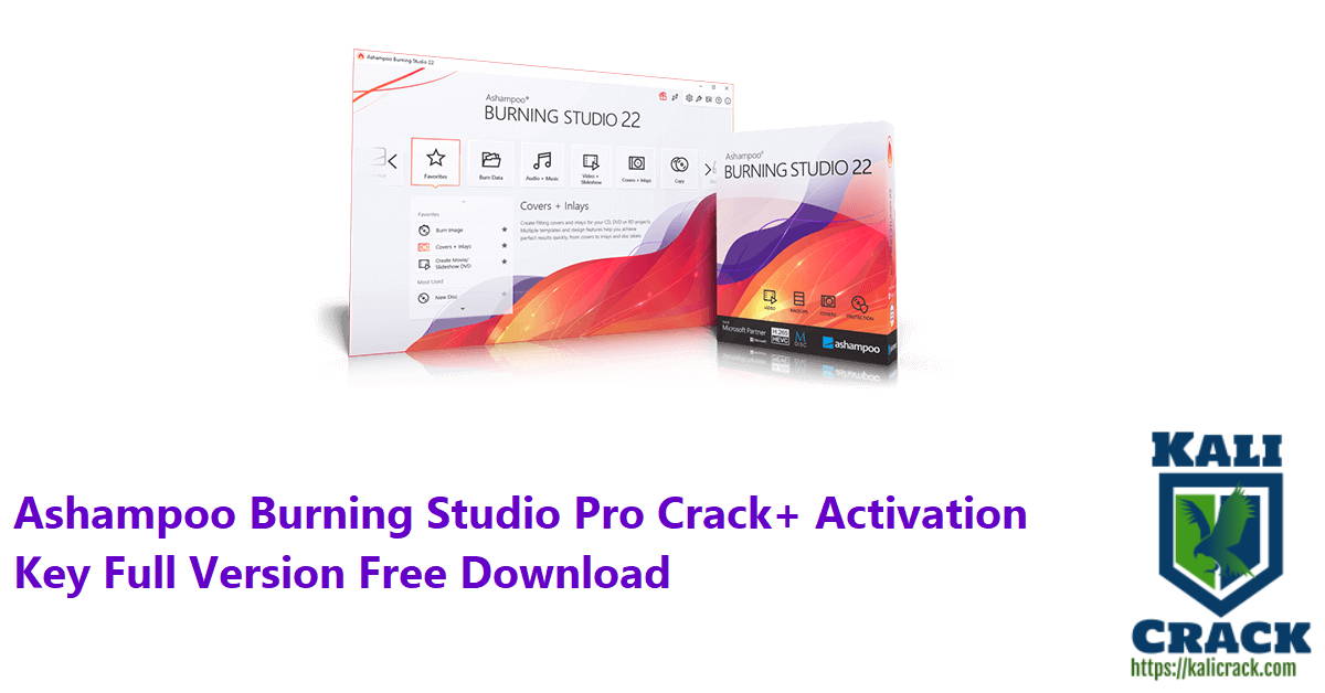 Ashampoo Burning Studio Pro Crack+ Activation Key Full Version Free Download