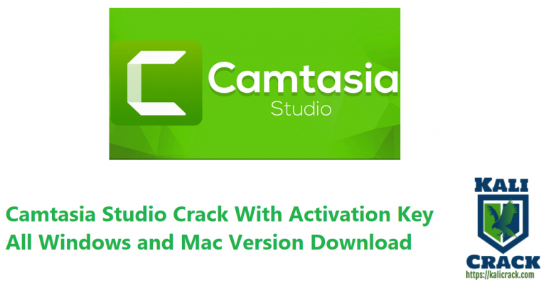 Camtasia Studio 2021.0.4 Crack With Activation Key All Version Download