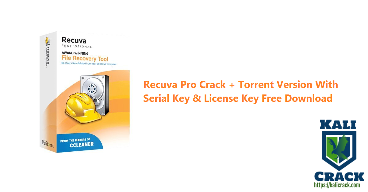 Recuva Pro Crack + Torrent Version With Serial Key & License Key Free Download