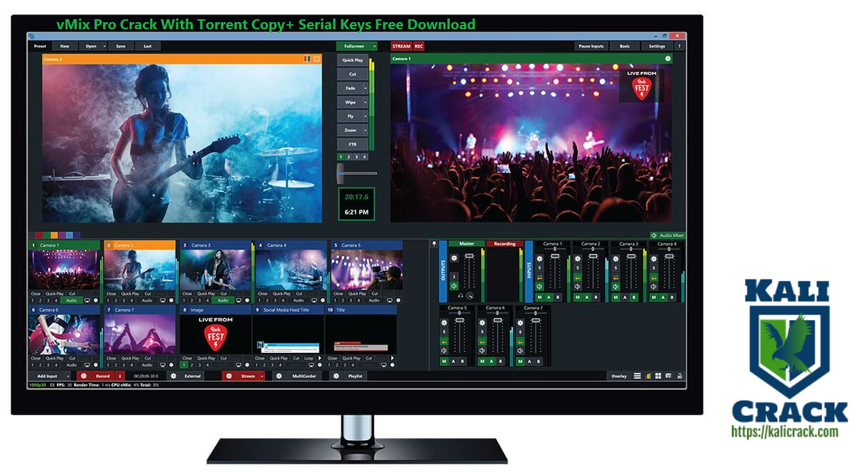 vMix Pro Crack With Torrent Copy+ Serial Keys Free Download